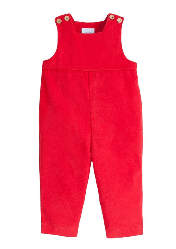 Basic Overall - Red, Little English, classic children's clothing, preppy children's clothing, traditional children's clothing, classic baby clothing, traditional baby clothing