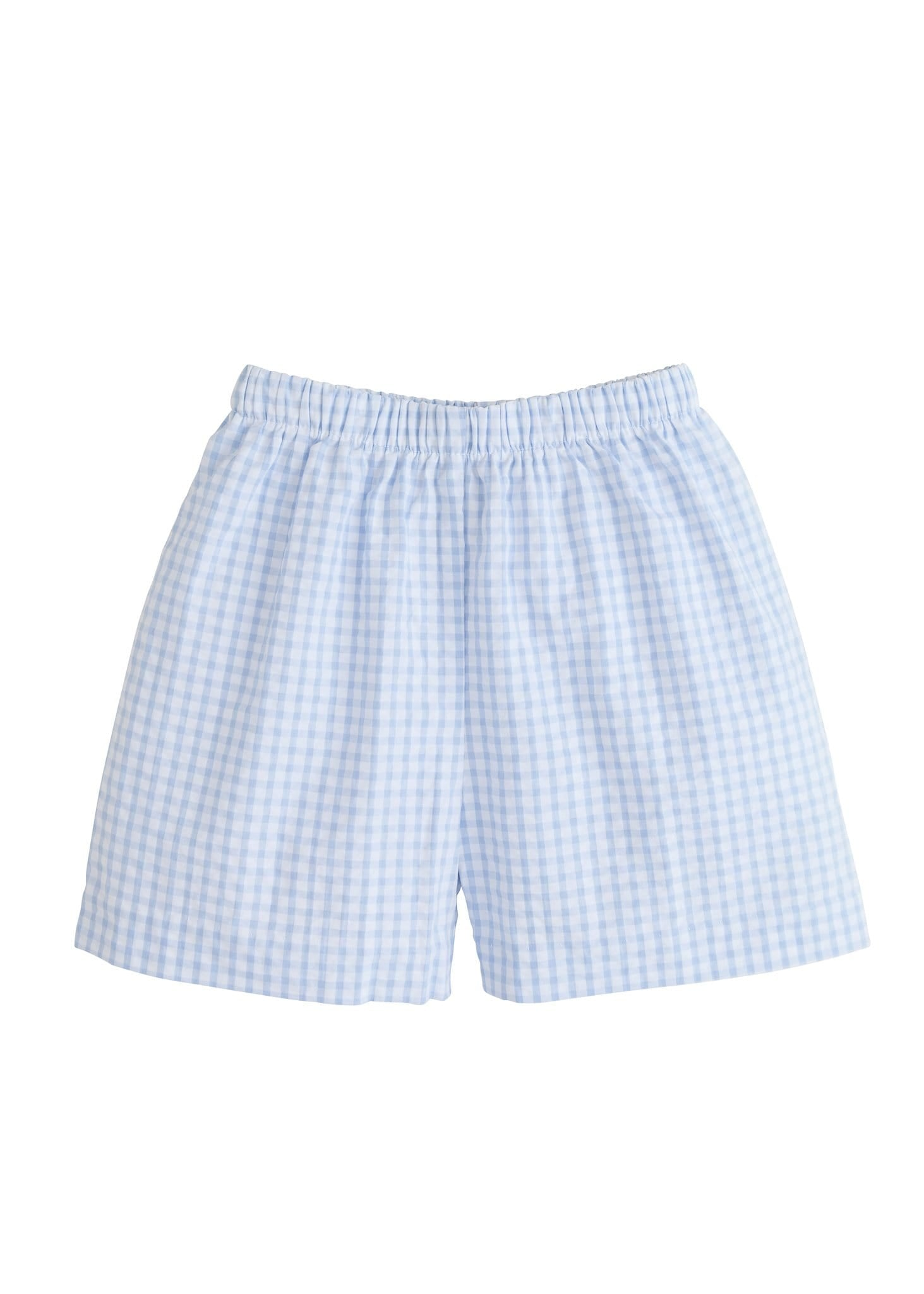 Basic Short - Light Blue Gingham, Little English, classic children's clothing, preppy children's clothing, traditional children's clothing, classic baby clothing, traditional baby clothing
