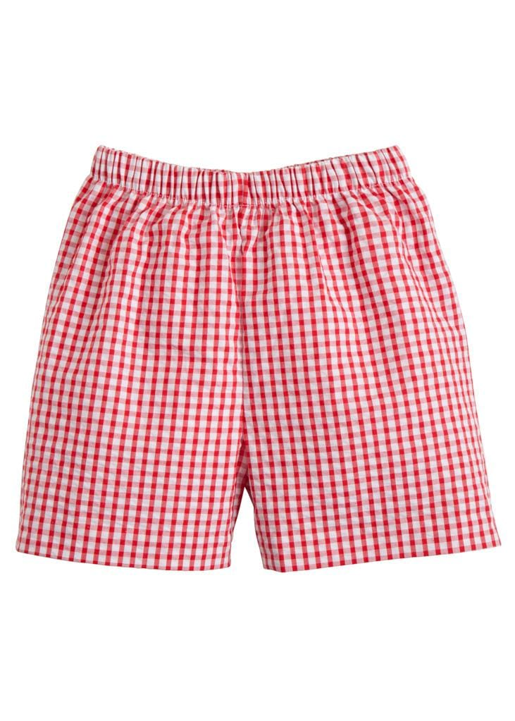 Basic Short - Red Gingham, Little English, classic children's clothing, preppy children's clothing, traditional children's clothing, classic baby clothing, traditional baby clothing