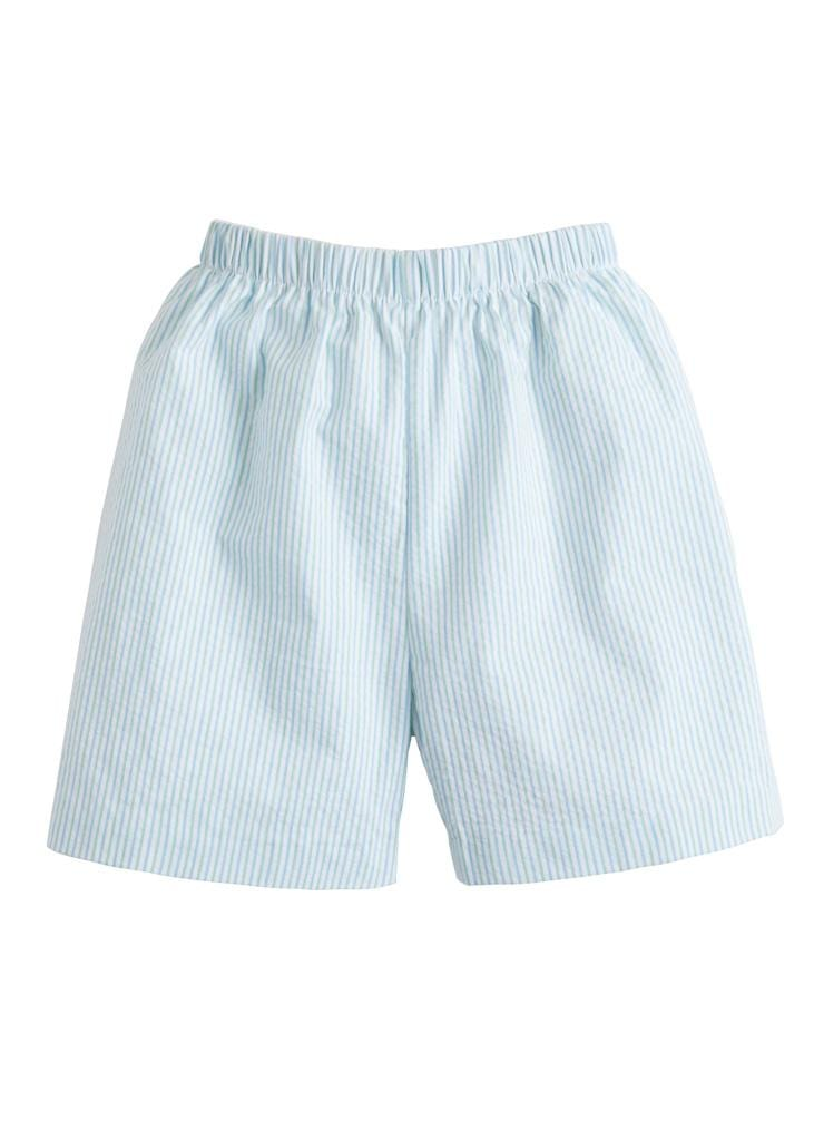 Basic Short - Mint Seersucker, Little English, classic children's clothing, preppy children's clothing, traditional children's clothing, classic baby clothing, traditional baby clothing