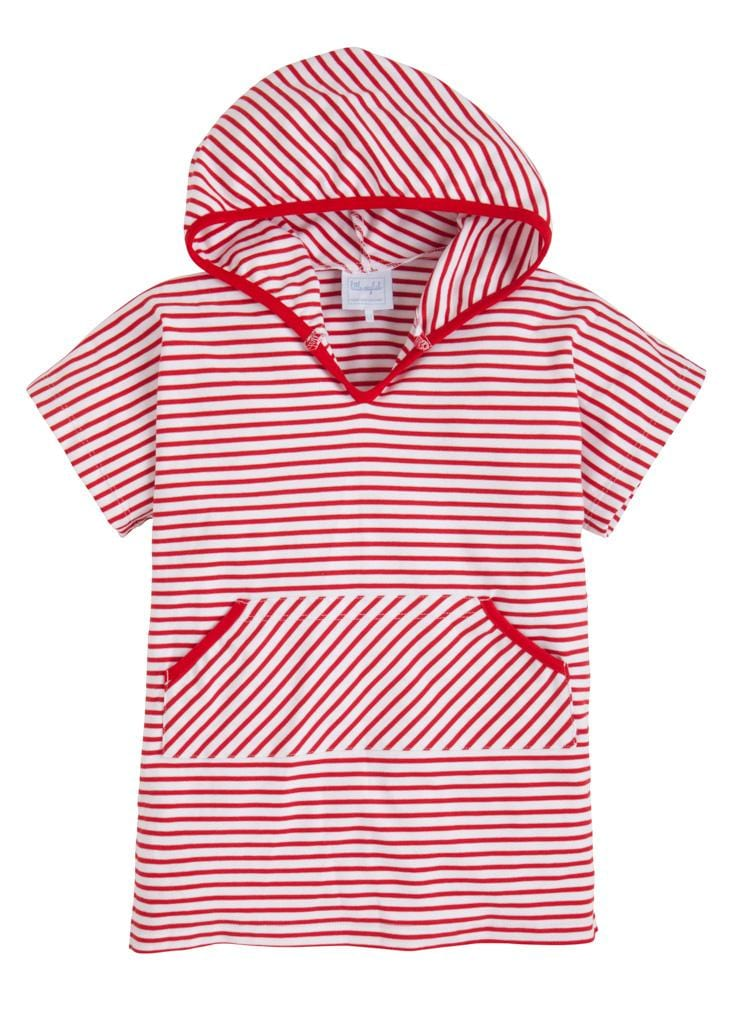 Boys Beach Popover - Red, Little English, classic children's clothing, preppy children's clothing, traditional children's clothing, classic baby clothing, traditional baby clothing