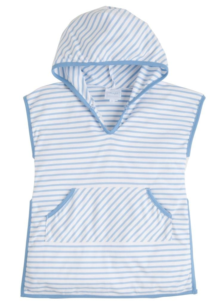 Girls Beach Popover - Light Blue, Little English, classic children's clothing, preppy children's clothing, traditional children's clothing, classic baby clothing, traditional baby clothing