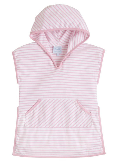 Girls Beach Popover - Pink, Little English, classic children's clothing, preppy children's clothing, traditional children's clothing, classic baby clothing, traditional baby clothing