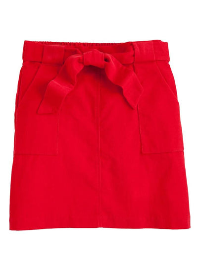 Little English classic red corduroy skirt, traditional children's clothing