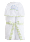 blue bunny cotton hooded towel