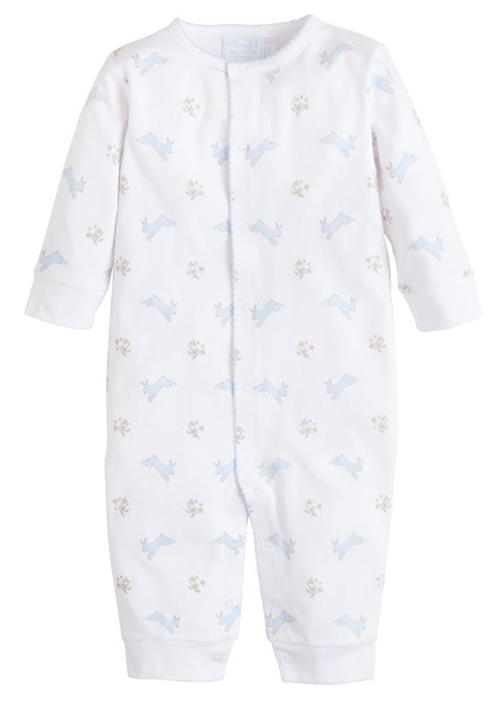 Printed Romper - Blue Bunny, Little English, classic children's clothing, preppy children's clothing, traditional children's clothing, classic baby clothing, traditional baby clothing