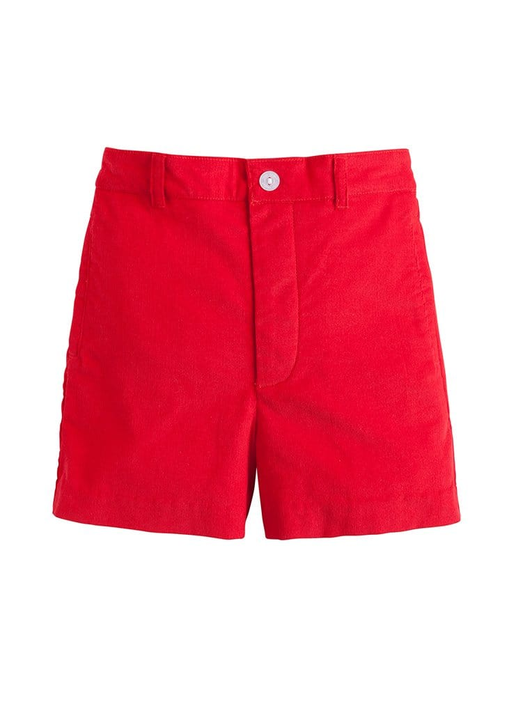 Boat Short - Red Corduroy, Little English, classic children's clothing, preppy children's clothing, traditional children's clothing, classic baby clothing, traditional baby clothing