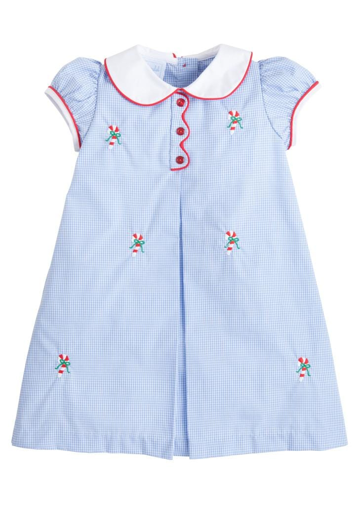 Little English classic girl's candy cane dress, traditional children's clothing