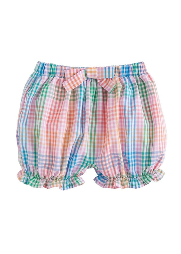 little english girls preppy classic pink plaid bloomers
