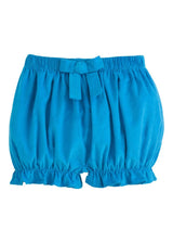 Turquoise Corduroy Bow Bloomer, Little English Traditional Children's Clothing, girl's classic bow bloomers