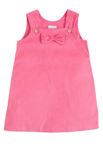 Hot Pink Bow Jumper, Little English Traditional Children's Clothing, girl's classic corduroy jumper