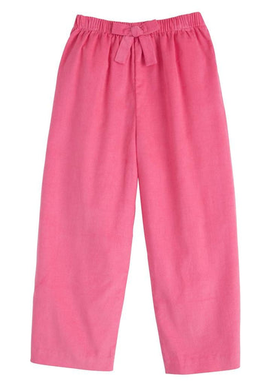 Little English classic girl's hot pink bow pant, traditional children's clothing