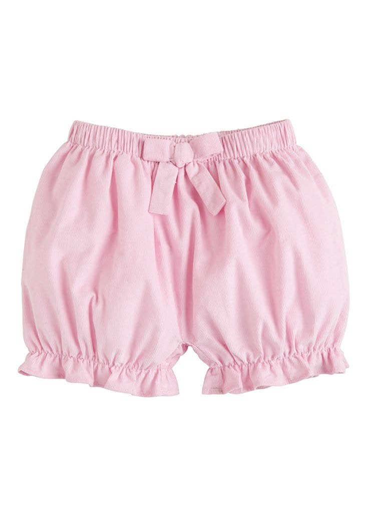 Corduroy Bow Bloomers - Light Pink, Little English, classic children's clothing, preppy children's clothing, traditional children's clothing, classic baby clothing, traditional baby clothing