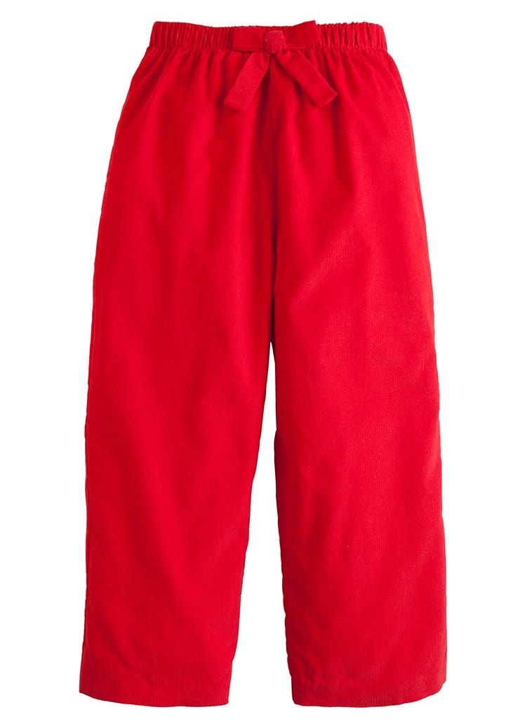 Bow Pant - Red Corduroy, Little English, classic children's clothing, preppy children's clothing, traditional children's clothing, classic baby clothing, traditional baby clothing