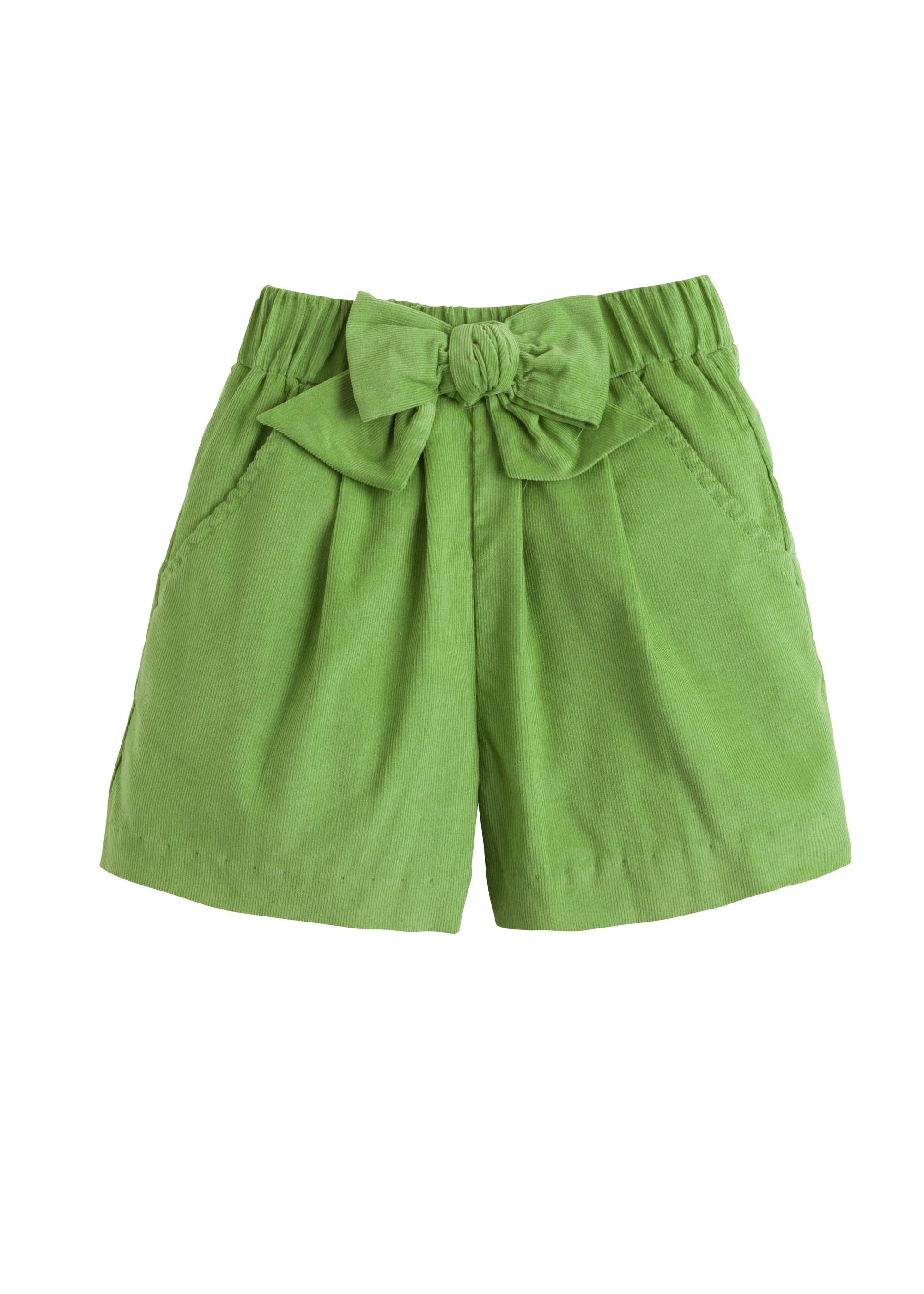 Corduroy Bow Shorts - Sage Green, Little English, classic children's clothing, preppy children's clothing, traditional children's clothing, classic baby clothing, traditional baby clothing