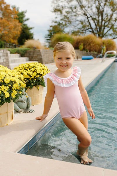 Breezy One Piece - Pink, Little English, classic children's clothing, preppy children's clothing, traditional children's clothing, classic baby clothing, traditional baby clothing