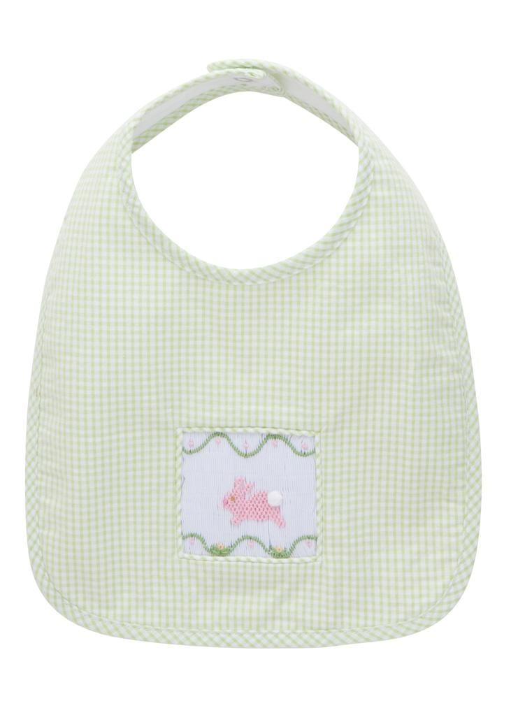 Little English Classic baby bunny smocked bib
