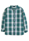 Little English classic boy's Kentucky tartan plaid button down shirt, traditional children's clothing