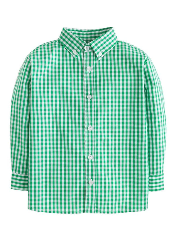 Button Down Shirt - Augusta Green Gingham