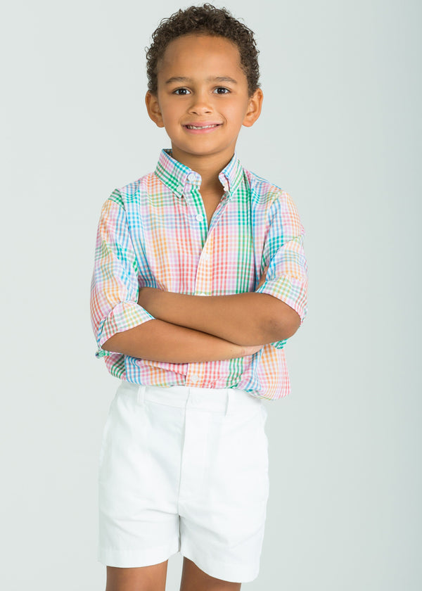 Little English Preppy Plaid Boys Button Down Shirt