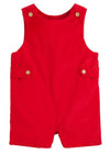 Red Button Tab John John, Little English traditional children's clothing, boy's corduroy John John