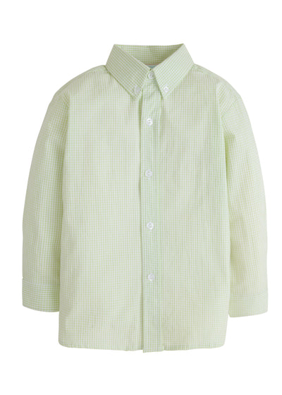 Button Down Shirt - Green, Little English, classic children's clothing, preppy children's clothing, traditional children's clothing, classic baby clothing, traditional baby clothing