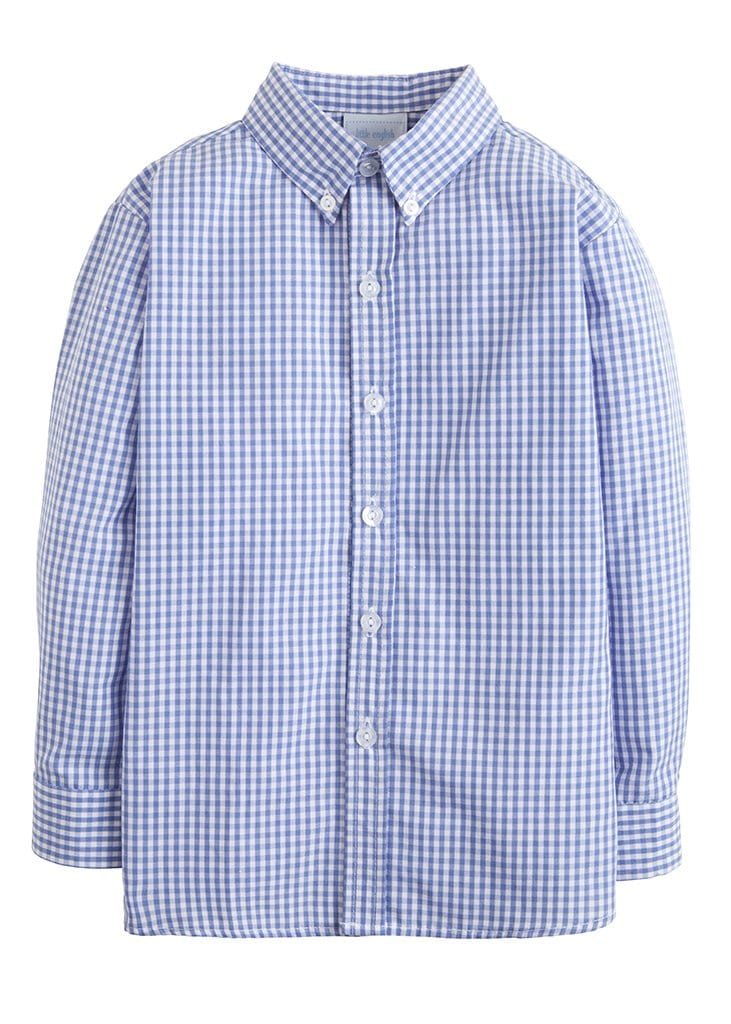 Button Down Shirt - Royal Gingham, Little English, classic children's clothing, preppy children's clothing, traditional children's clothing, classic baby clothing, traditional baby clothing