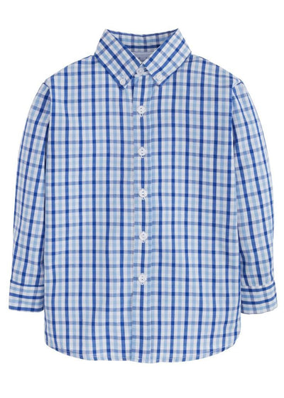 Button Down Shirt - Seaside Plaid, Little English, classic children's clothing, preppy children's clothing, traditional children's clothing, classic baby clothing, traditional baby clothing