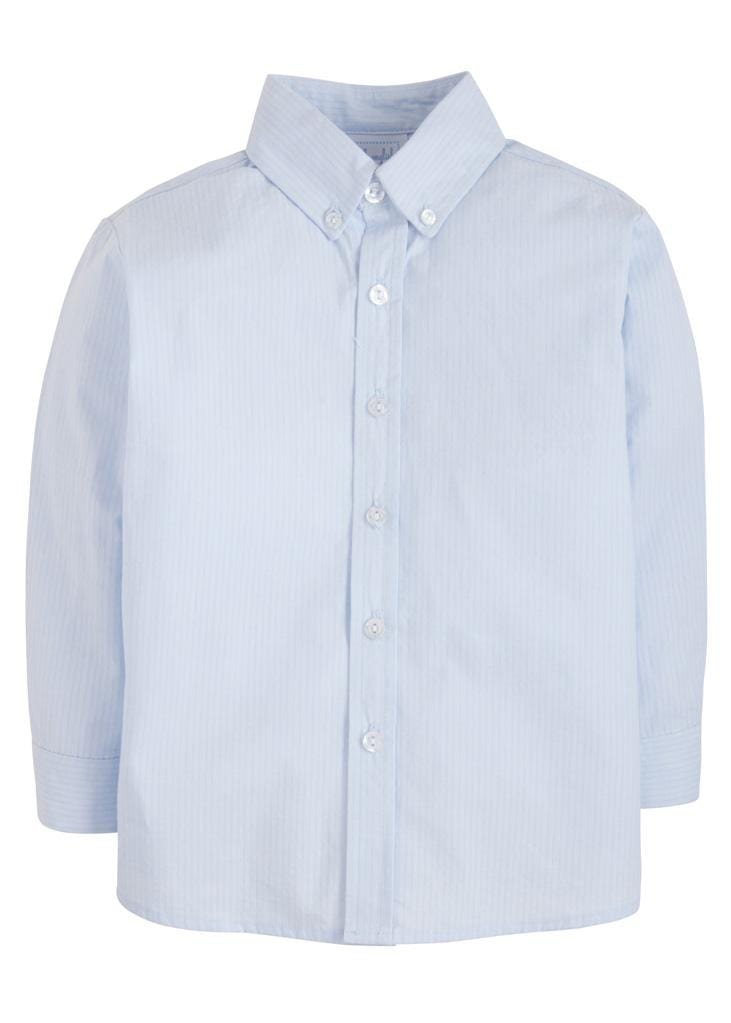 Button Down Shirt - Solid Blue Seersucker, Little English, classic children's clothing, preppy children's clothing, traditional children's clothing, classic baby clothing, traditional baby clothing