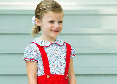 Callaway Floral Bellfield Jumper Set, Little English traditional children's lcothing, girl's floral jumper set
