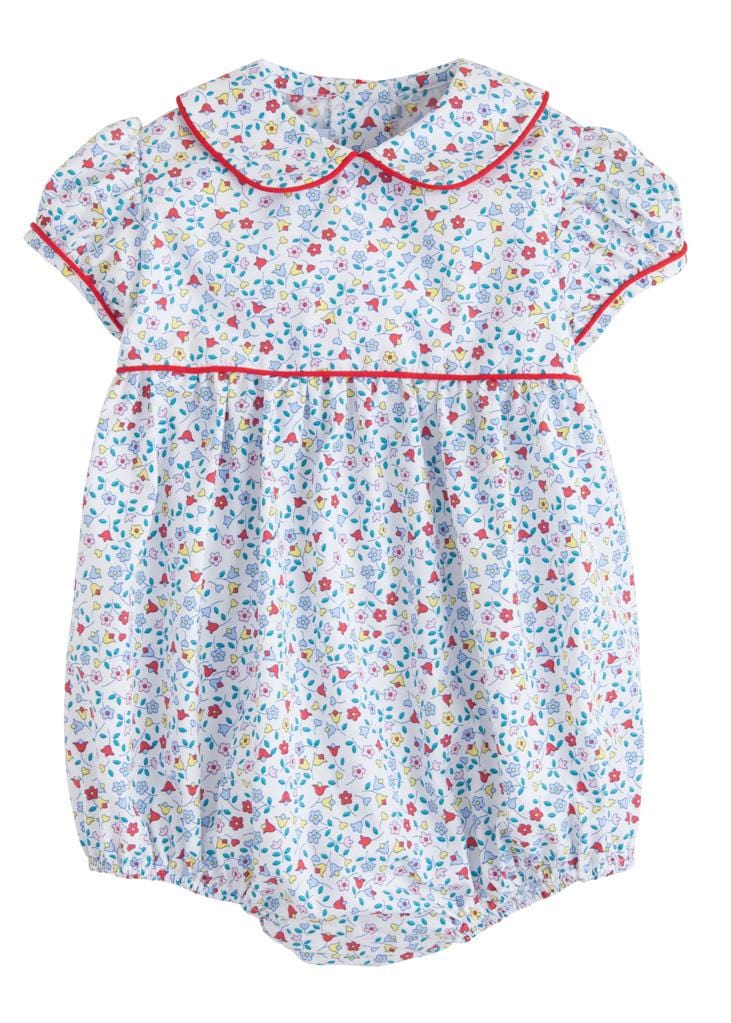 Callaway Floral Charlotte Bubble, Little English Traditional Children's Clothing, girl's classic floral bubble
