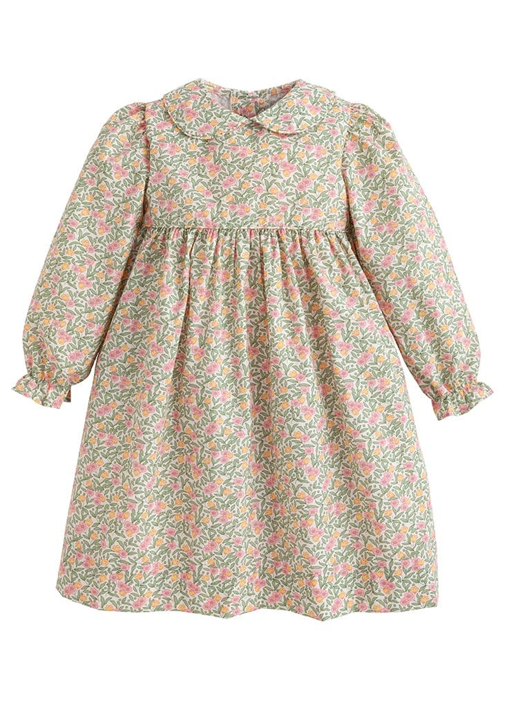 Summer Tree Floral Charlotte Dress, Little English traditional children's clothing, girl's floral dress