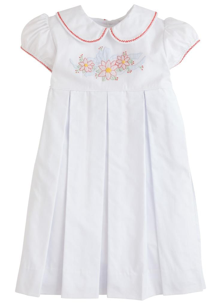 Little English classic girl's embroidered dress, traditional children's clothing