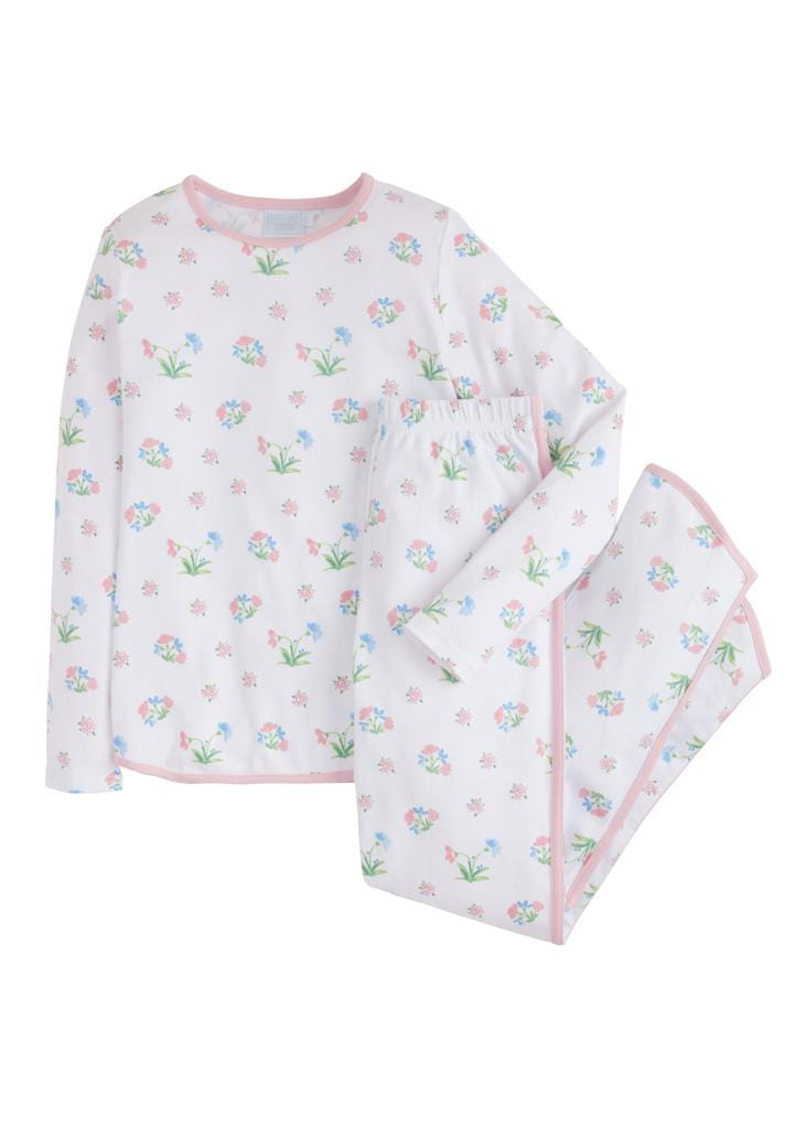 Little English womens mommy and me pajamas with floral print