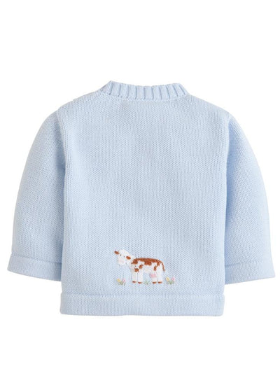 Little English classic crochet cow sweater, traditional children's clothing