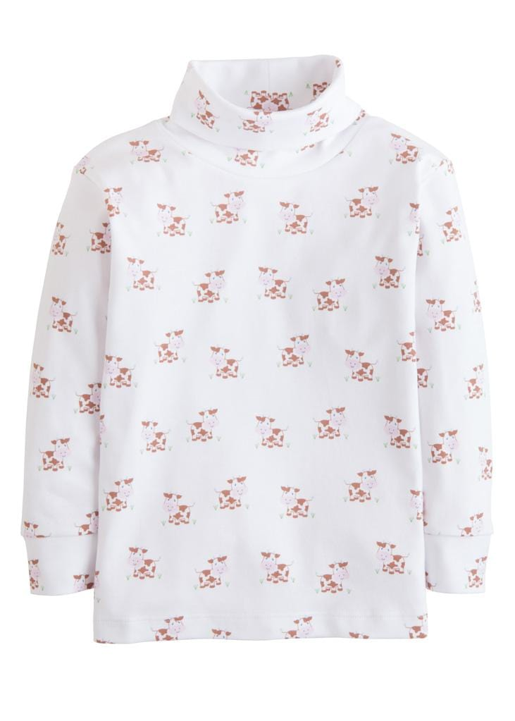 Cow Printed Turtleneck - Boy