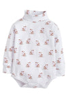 Cow Printed Turtleneck Onesie - Boy