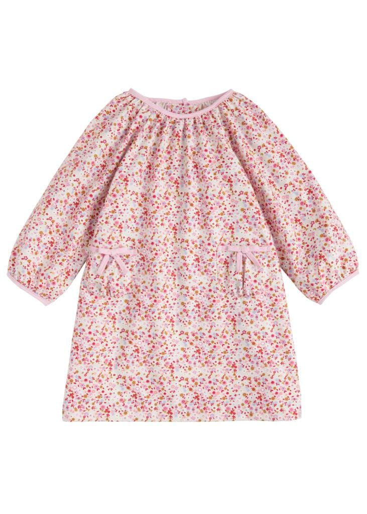 Little English classic girl's floral dress, traditional children's clothing