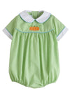 Pumpkin Darcy Bubble, Little English Traditional Children's Clothing, boy's classic green bubble
