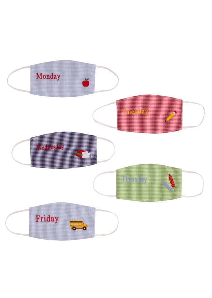 Days of the Week Face Mask Set - Boy