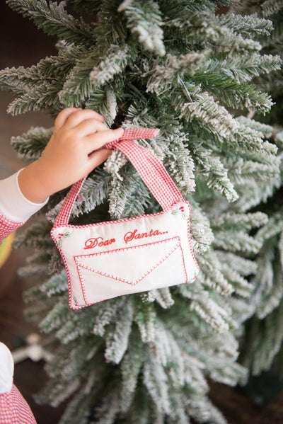 Dear Santa Door Pillow, Little English, classic children's clothing, preppy children's clothing, traditional children's clothing, classic baby clothing, traditional baby clothing