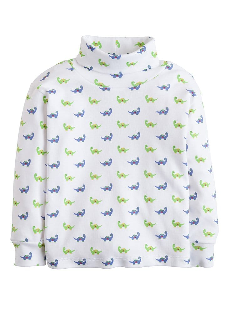 Little English classic boy's dinosaur printed turtleneck, traditional children's clothing