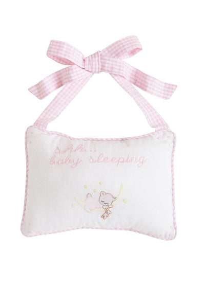 Door Pillow - Baby Girl, Little English, classic children's clothing, preppy children's clothing, traditional children's clothing, classic baby clothing, traditional baby clothing