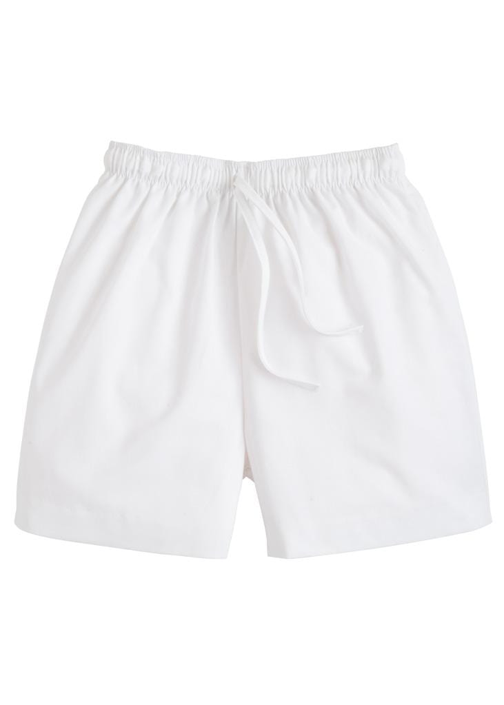 Twill Drawstring Short - White, Little English, classic children's clothing, preppy children's clothing, traditional children's clothing, classic baby clothing, traditional baby clothing
