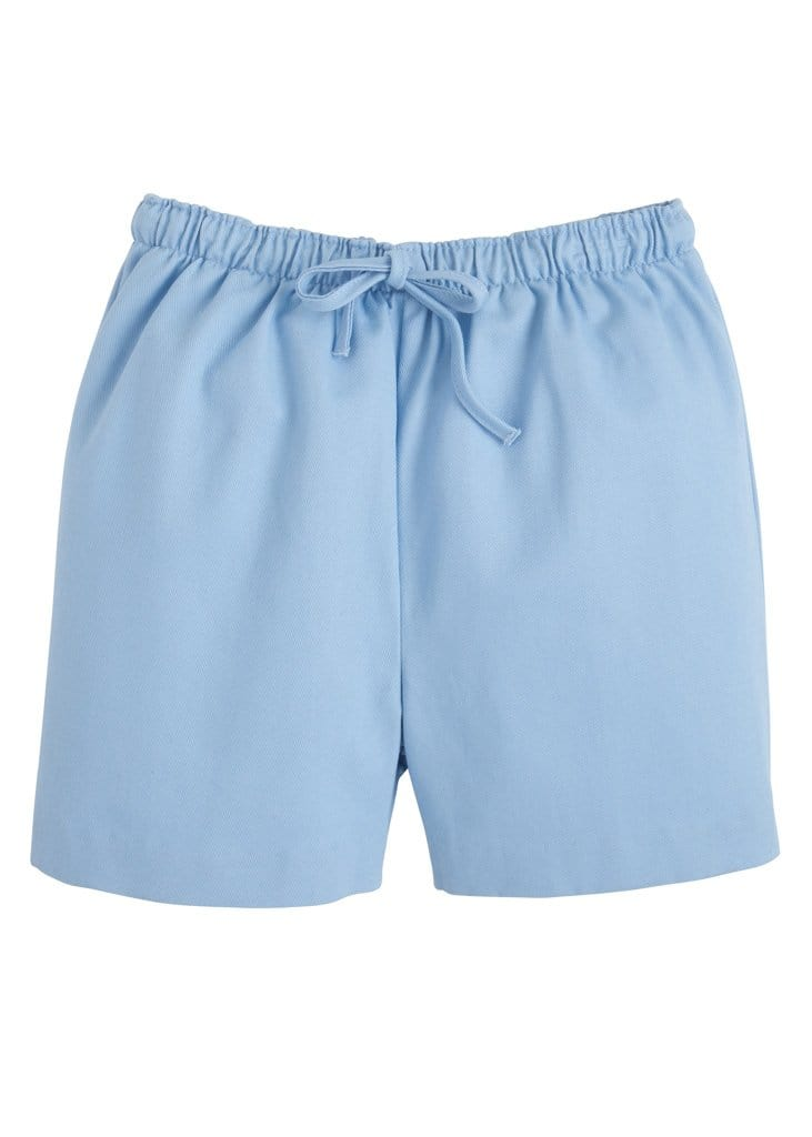 Twill Drawstring Short - Light Blue, Little English, classic children's clothing, preppy children's clothing, traditional children's clothing, classic baby clothing, traditional baby clothing