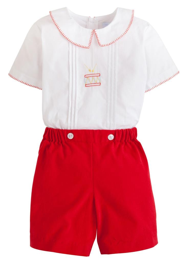 Little English classic boy's short set, traditional children's clothing