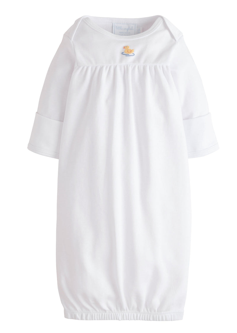 Little English classic pinpoint newborn gown