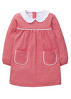 Little English classic red knit dress for girl, traditional children's clothing