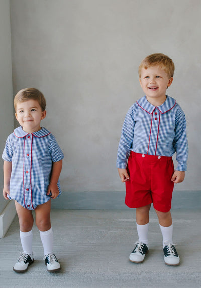 George Bubble, Little English Traditional Children's Clothing, boy's classic royal gingham bubble