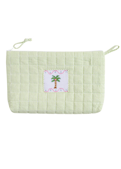 Palm Tree Quilted Luggage